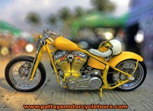 Yellow Harley Davidson Motorcycle