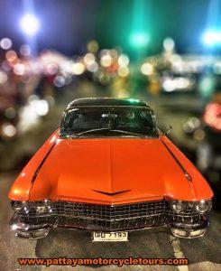 Orange American Cadillac
