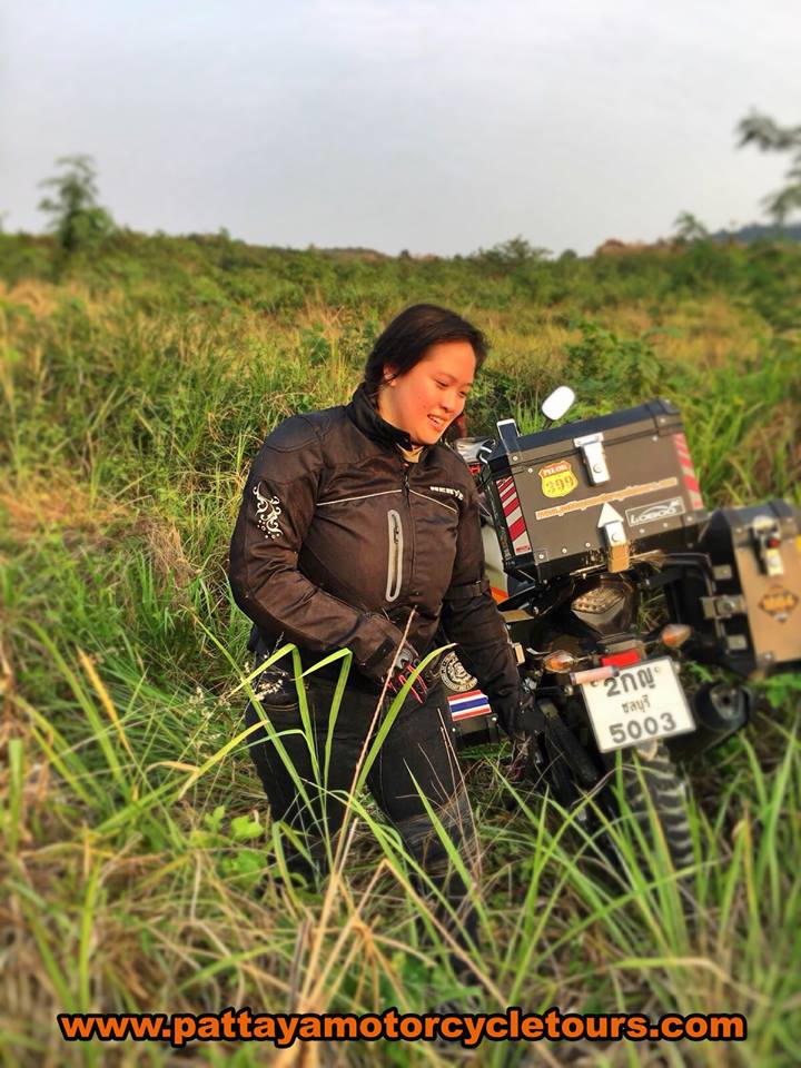 Adventure Motorcycle Girl Thailand