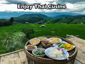 Motorcycle and Thai food